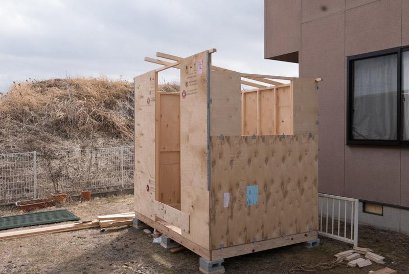 小屋制作過程